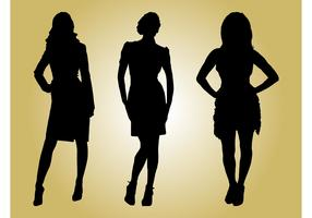 Fashion Models Silhouettes