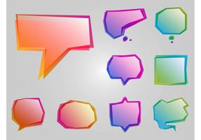 Colorful Speech Icons