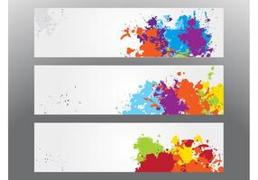 Colorful Splatter Banners