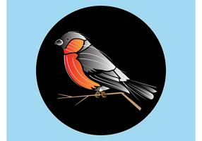 Bird Badge Vector