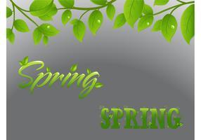 Spring Text Art