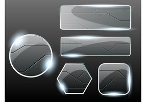 Glass Buttons Vectors