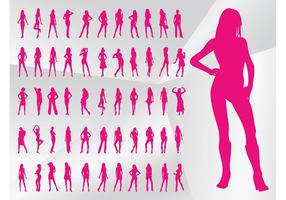 Sexy Model Silhouettes