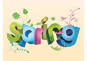 Spring Text Art 3D