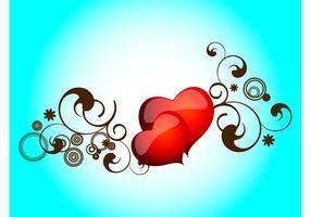 Shiny Hearts Vector