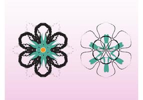 Grunge Flower Vectors