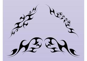 Tribal Swirls Shapes