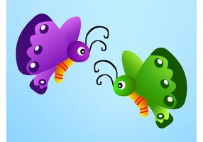 Cartoon Butterflies