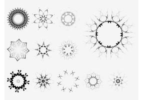Floral Circles Vectors