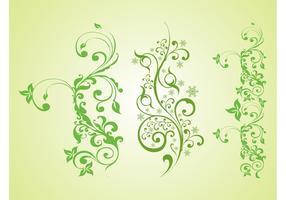 Green Plants Vector Graphics