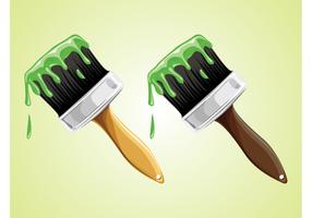 Green Paint Brushes