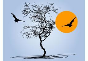 Tree And Bats