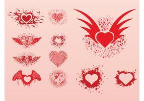 Grunge Hearts Set