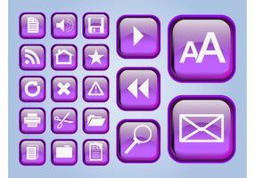 Glänzende Schnittstellen-Icons