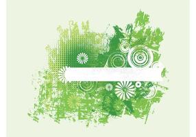 Green Grunge Flowers
