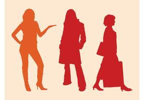 Free Women Silhouettes