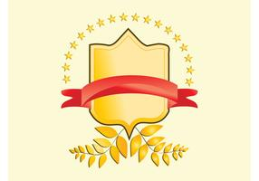 Golden Badge Vector