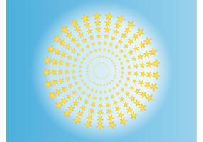 Star Circles Vector