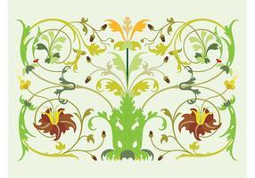 Vintage Plant Swirls