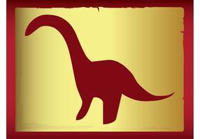 Silueta del dinosaurio