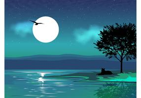 Night Vector Landscape