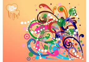 Swirling Flowers Design