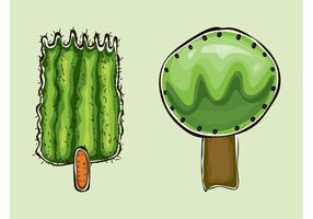 Cartoon Vector Trees