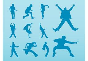 Jumping Vector Silhouettes