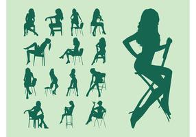 Girls On Chairs Vector