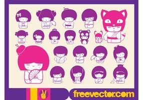Free Kokeshi Vectors