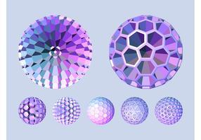 3D Spheres Vectors