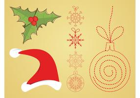 Vector Christmas Decorations