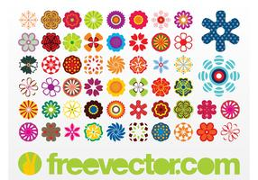 Vector Flowers Icons