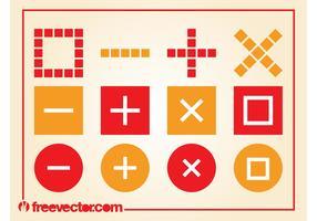 Arithmetics Symbols Vector