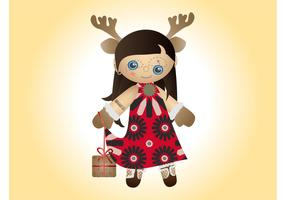 Christmas Doll Vector