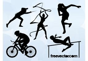 Olympic Sports Silhouettes