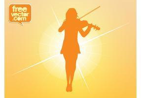 Violin Girl Vector