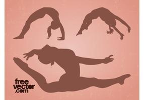 Flexible Girls Vector