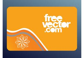 Orange Vector Card