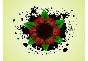 Splatter Flowers Vector