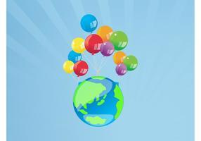 Balloons World Vector
