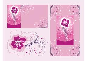 Floral Posters Vector