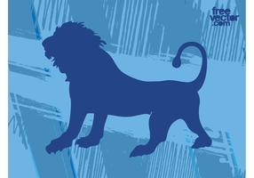 Brüllender Löwen-Vektor