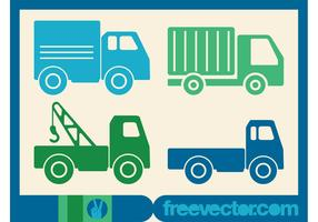 Trucks Icons Vector