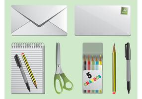 Vector Stationery Items