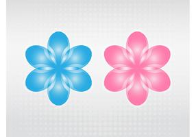Vector Blooming Flowers