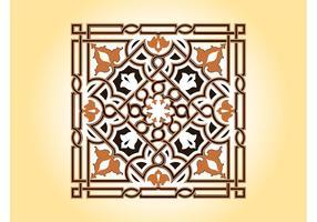 Vector Floral Tile Design