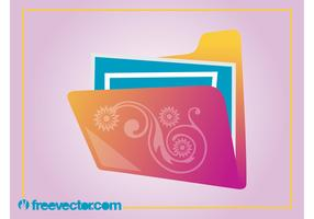 Floral Folder Vector