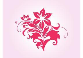 Swirling Flower Vector