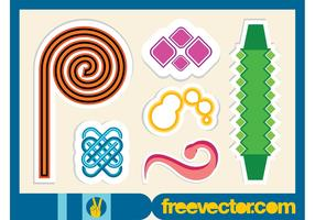 Abstract Vector Stickers
